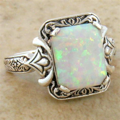 opal antique design 925 sterling silver ring