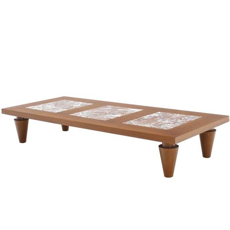 Large Rectangular Coffee Table Large Rectangular Coffee Table On Heavy Legs With Marble Inserts For Sale At 1stdibs