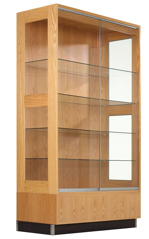 Glass Door Cabinet For Display Contemporary Wall Display Cabinet Feature Clear Glass Material Gallery And Sliding Door