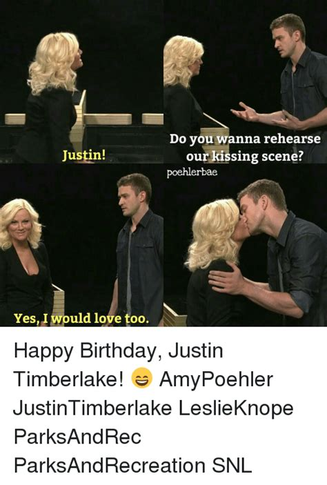 Justin Timberlake Happy Birthday Meme - 25 best memes about kiss scene kiss scene memes