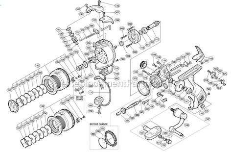 shimano stradic parts diagram shimano st 2500mgfb parts list and diagram