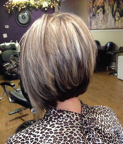 graduated bob hairstyle with hi lites and low lites high and low lights on stacked bob 12 best graduated
