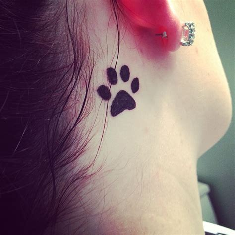90 best paw print tattoo meanings and designs nice