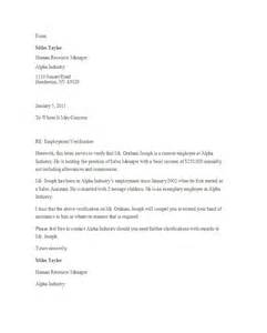 Proof Of Employment Letter by 40 Proof Of Employment Letters Verification Forms Sles