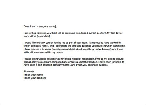 Official Letter Of Resignation Pdf resignation letter resignation letter model pdf with time notice formal resignation letter