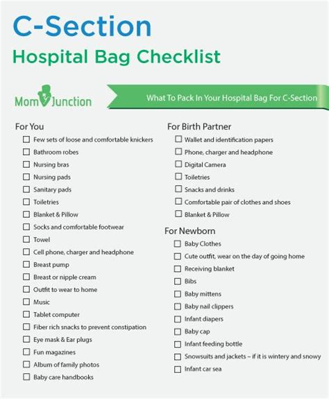 c section hospital bag checklist pinterest the world s catalog of ideas