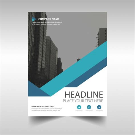 free templates for corporate brochures blue corporate brochure template vector free download