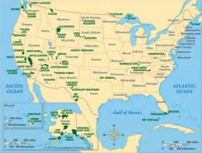 united states map of national parks united states united states national parks