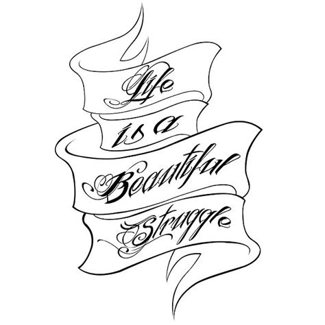 struggle tattoo designs is a beautiful struggle design