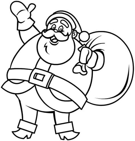 free printable coloring sheets christmas santa claus for