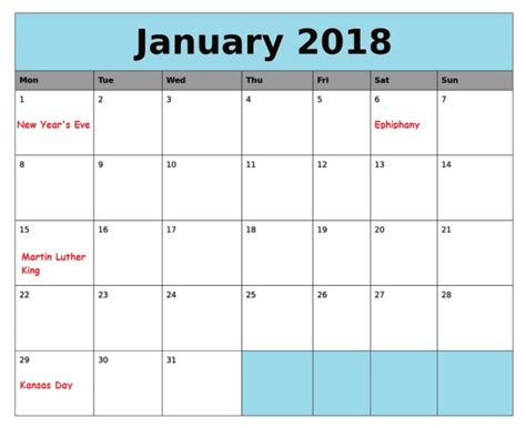 free fillable calendar template january 2018 calendar fillable template printable