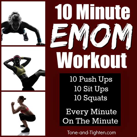10 minute emom workout shred it at home with no