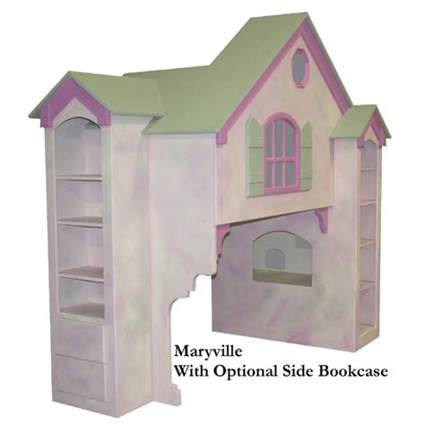 doll house twin bed maryville dollhouse loft bed twin over full