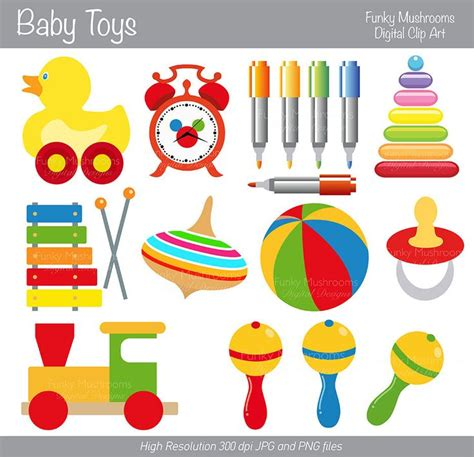 baby toys clipart digital clipart baby toys for scrapbooking by