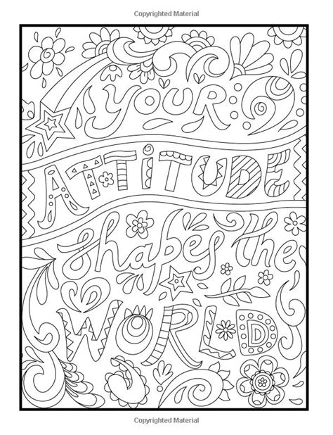 positive words coloring sheets coloring pages