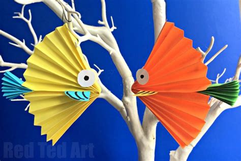 Make A Paper Fish - paper fan fish ted s