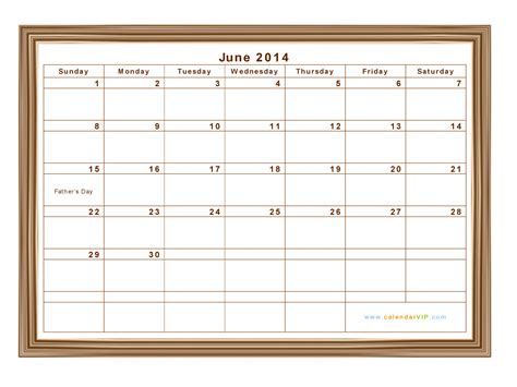 June 2014 Calendar June 2014 Calendar Blank Printable Calendar Template In