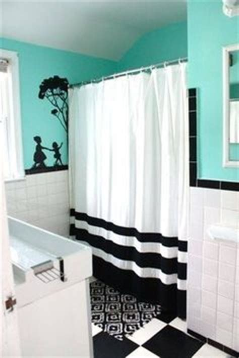 Black White And Blue Bathroom by Bathroom Black White And A Splash Of Blue On