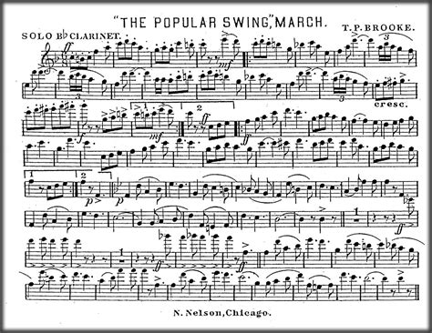 the swing music brass band sheet music the popular swing march by t p