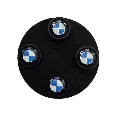 bmw valve stem caps shopbmwusa bmw roundel valve stem caps black