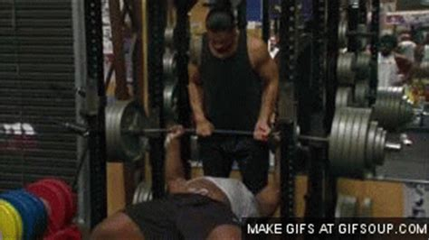 big e langston bench press big e gif find share on giphy