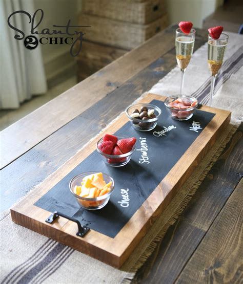 diy chalkboard serving tray tutorial  youtube video