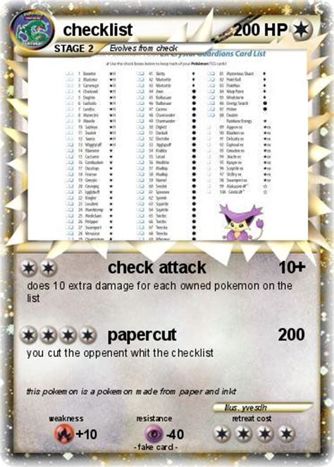 printable pokemon card checklist 8 best images of pokemon card checklist printable list