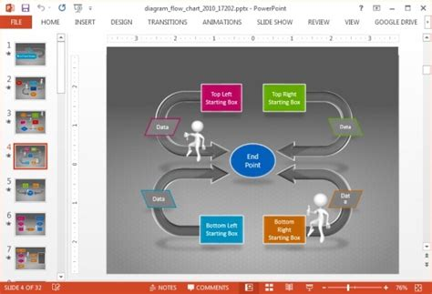 Animated Flow Chart Diagram Powerpoint Template Flowchart Templates For Powerpoint Free