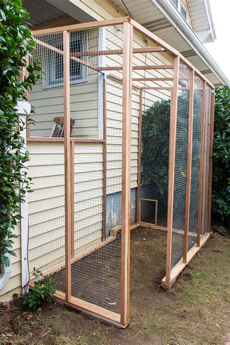free diy catio plans catio construction progress diy in pdx