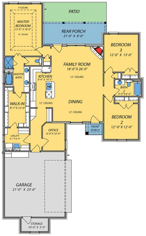 spacious open floor plan house plans with the cozy spacious open floor plan 83845jw architectural designs