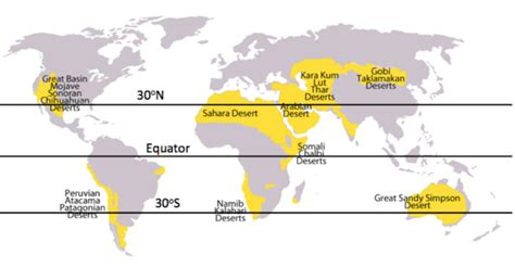 deserts map what are the 7 continents 5 oceans and many deserts