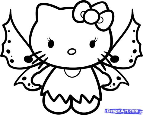 Hello Kitty Fairy Coloring Page | baby hello kitty coloring pages how to draw fairy hello