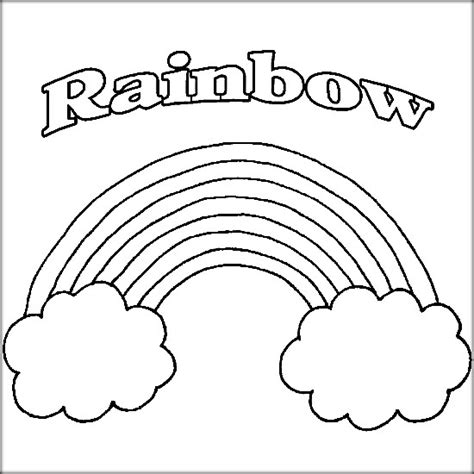 rainbow coloring page kindergarten rainbow coloring pages with clouds and sun color zini