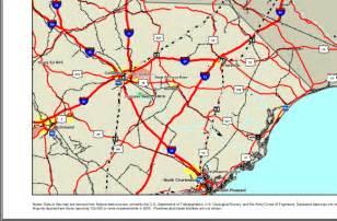 map carolina major transportation facilities