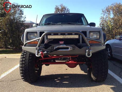 jeep cherokee prerunner jcroffroad inc jeep cherokee xj front prerunner winch