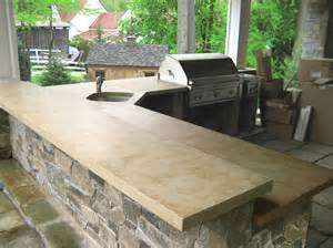 outdoor kitchen countertop ideas astounding concrete countertop colors decorating ideas