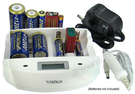 titanium battery charger titanium 4 bay universal fast smart nimh battery charger