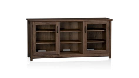 living room cabinets with doors living room winslow glass door media stand pottery barn