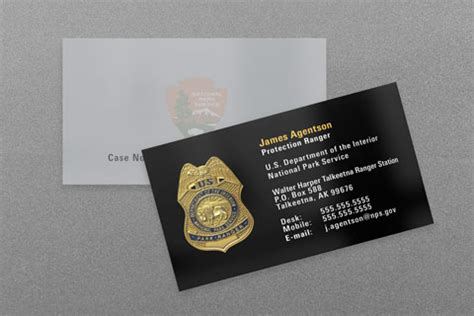 Nps Business Card Template by Federal Enforcement Business Cards Kraken Design