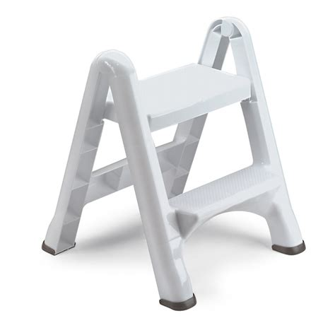 shop rubbermaid 2 step plastic step stool at lowes