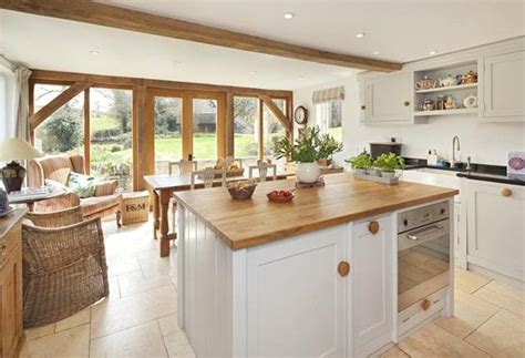 cottage kitchen extensions kitchen dining area in extension oak frame with glazed