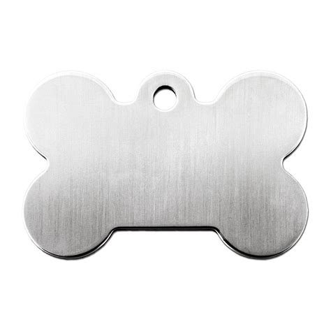Search By Id Tag Brushed Chrome Bone Personalized Engraved Pet Id Tag Large Petco