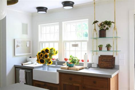 Glass Shelves For Kitchen Cabinets by Siena Flush Mount With Flat Panel Glass Eclectic