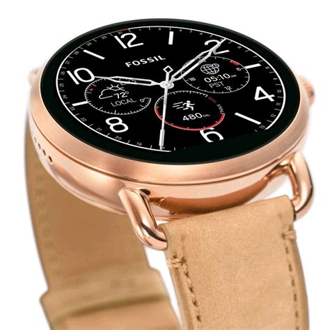 Fossil Rantai Rosegold Cover Black fossil q wander smartwatch 45mm gold light