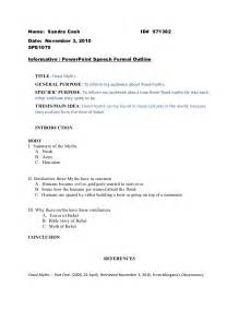 Formal Speech Presentation by Informative Speech Formal Outline 1