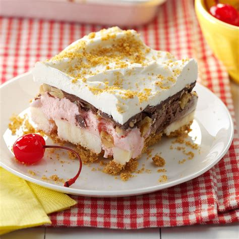 banana split dessert recipe taste of home