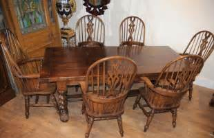 farmhouse kitchen table and chairs farmhouse refectory table set arm chairs kitchen