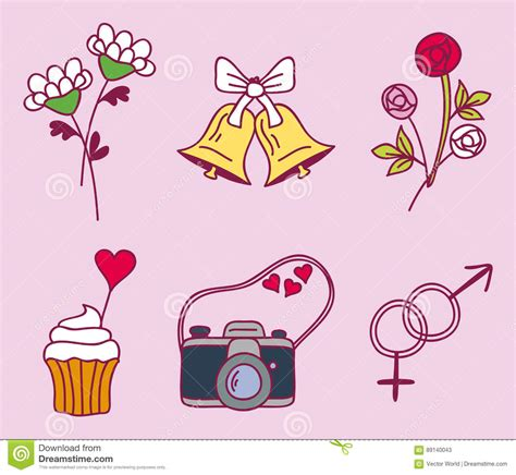Nuptial Marriage by Wedding Relationship Marriage Nuptial Icons Design