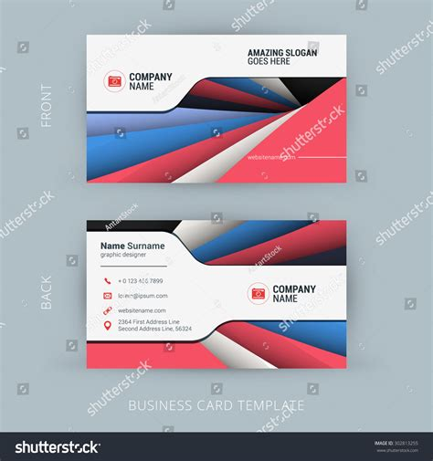 material design business card template free creative clean business card template material stock