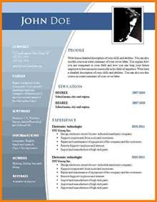 Template Word by 12 Template Cv Word Gratuit Lettre Officielle